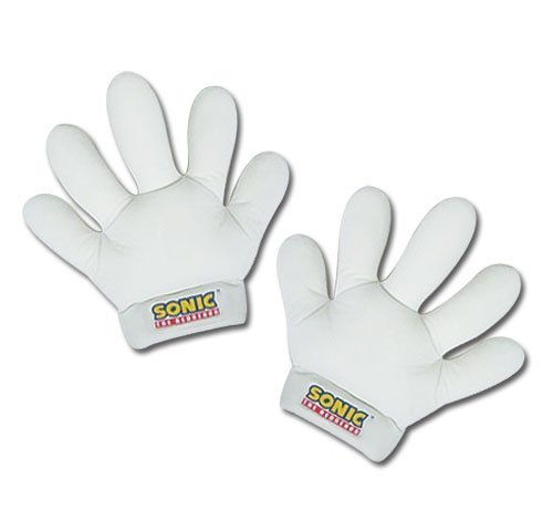 Sonic The Hedgehog Gloves (GE Animation Great Eastern GE 8805 Sonic The Hedgehog Stuffed Plush Gloves, 11, White by GE Animation)