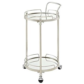 Amazon.com: Riverbay Furniture - Carrito de bar redondo con ...