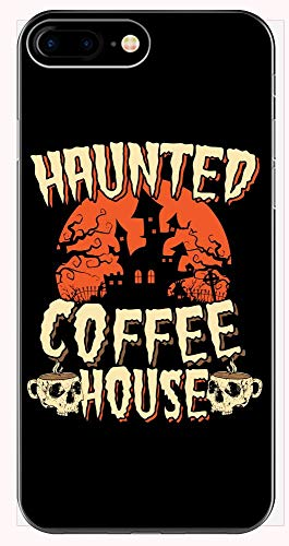 Scary Haunted Coffee House Halloween Party Design for The Local Coffee Shop - Phone Case for iPhone 6+, 6S+, 7+, 8+ -
