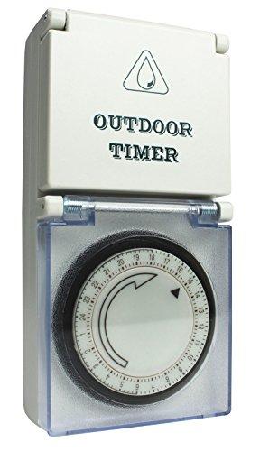 as - Schwabe  Outdoor Zeitschaltuhr, mechanisch, IP44 - für Aussen, Aussenbereich, Draussen, Garten, Feuchtraum, Nassraum, Innenbereich, Innen 24031