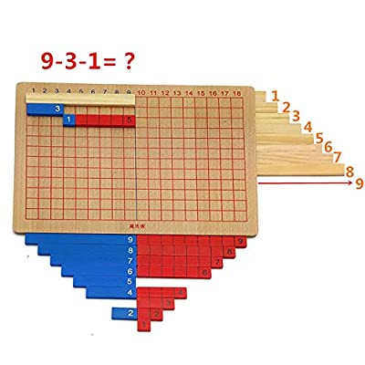 Montessori Math Mathematics Family Teaching Aids Material Addition and Subtraction Board Children's Wooden Educational Calculation Toys: Toys & Games