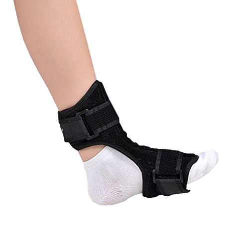 Foot Drop Night Splint (Plantar Fasciitis Dorsal Night and Day Splint for Heel Pain Relief Drop Foot Orthotic Brace for Sleep Support Fits Left and Right Foot)