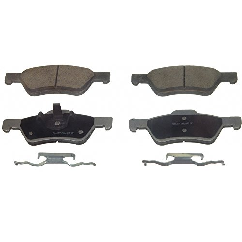 Brake Pad Pin Clip - Wagner ThermoQuiet QC1047 Ceramic Disc Pad Set With Installation Hardware, Front