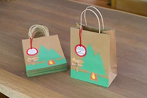Personalized Camping Party Favor Bags for these Fun Camping Wrapping Paper And Creative Gift Wrap Ideas