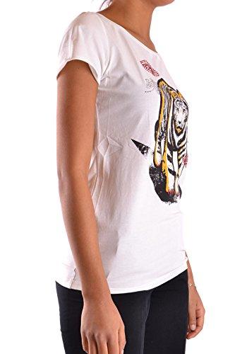 Liu Jo Damen MCBI191305O Weiss Baumwolle T-Shirt