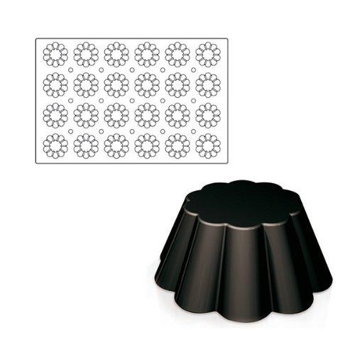 Paderno World Cuisine 3-Inch Diameter Non-stick Silicone Brioche Mold (24x)