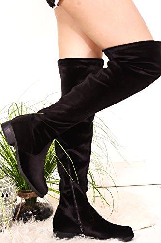 Knee jalen Black Boot Velvet Side Round Link Zipper High h5 Forever Toe Look qw0fTqP