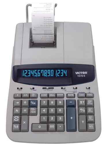 VCT15706 - Victor 1570-6 Two-Color Ribbon Printing Calculator by Victor (Image #2)
