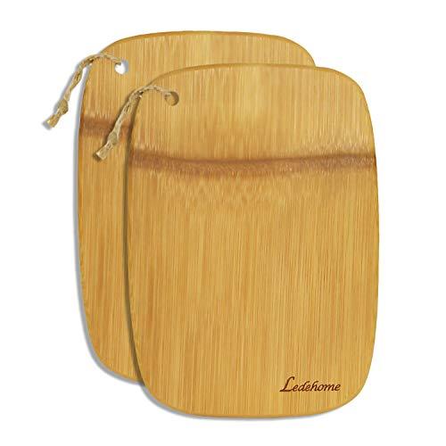 Ledehome Single Piece Premium Organic Bamboo Cutting Board [10