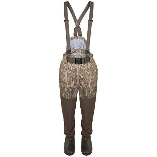 Drake Guardian Elite Uninsulated Breathable Waist-High Waders, Color: Mossy Oak Bottomland, Size: Size 12 (DF1210-006-12)