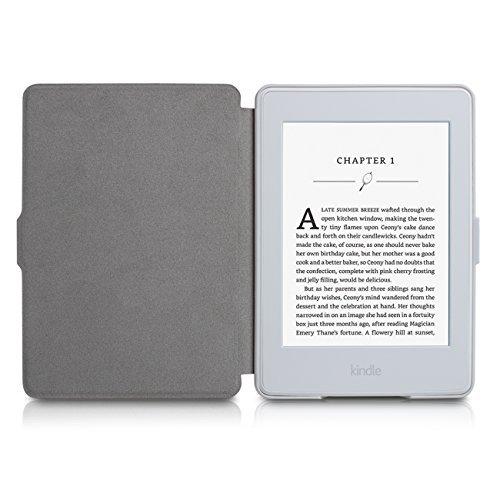 Capa para Kindle Básico da 8a geração - Rígida - Fecho Magnético -  Hibernação - Base Branca (cinza)  Amazon.com.br  Eletrônicos 5af7fb6f2d