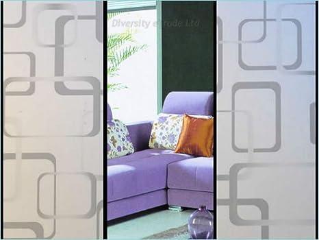 Diseño decorativo @ 65 privacidad película para ventana cristal mate de Vinilo Autoadhesivo DIY 30 cm x 90 cm: Amazon.es: Hogar