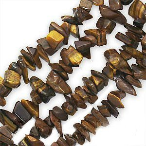 UnCommon Artistry Tiger Tiger's Eye Gemstone Chip Beads 8mm x 4mm - 36 Inch Strand