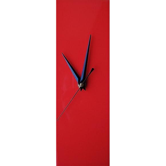 Contemporary Slim Red Wall Clock