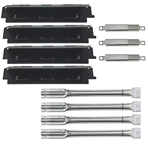 Hisencn Repair kit Stainless Grill Burner Pipe Tube, Porcelain Heat Plate, Crossover Tubes Replacement for Charbroil 463436413, 463420511, 463420510, 463420509, 463420508, 463420507 Gas Grill Models