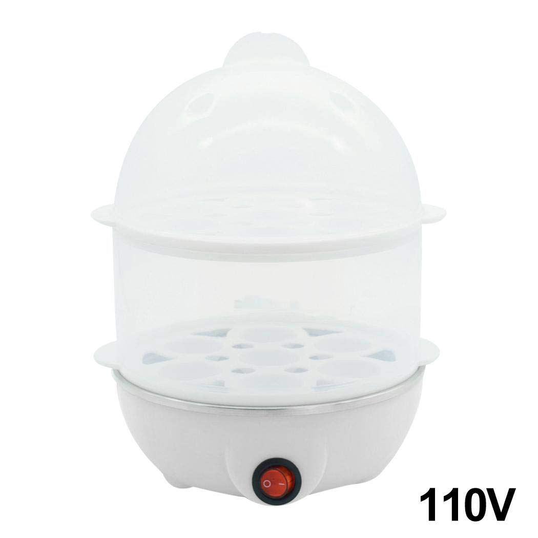 Acecoree Water Shortage Protection Double Layer Electric Heating Steamer Egg Cooker Cookers