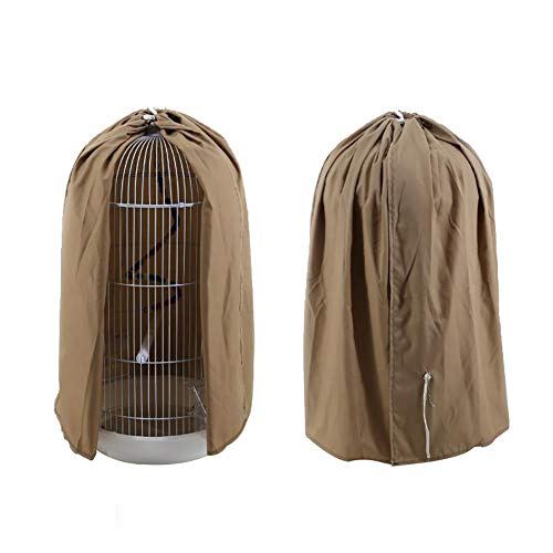 Classic Round Dome Top Bird Cage Cover Shield, Birdcage Light Covers Skirt Accessories Screen for Parakeets Lovebirds Budgies Finches Canary Small Bird Cage(HZC439) - Top Birdcage Cover