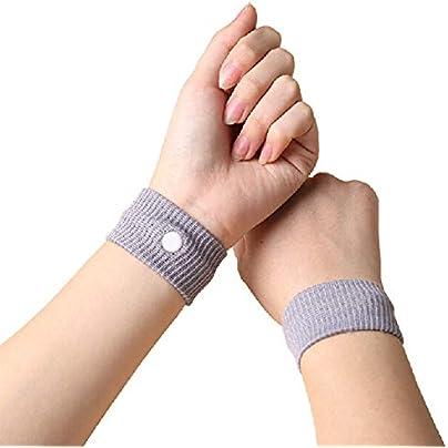 1 2Pcs Travel Reusable Wrist Band Travel Car Sea Van Plane Wristbands Car Seasick Sickness Bracelet Estimated Price £8.39 -