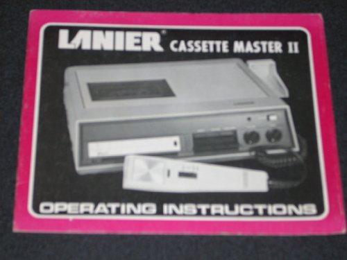 Original vintage Operating Instructions - LANIER Cassette Master II Dictation Unit