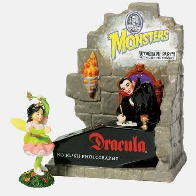 Department 56 Snow Village Halloween Autographs With Dracula Set of 2 (Halloween Movie Props)