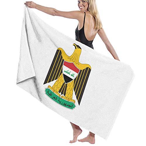 評価するアルカトラズ島驚きビーチバスタオル バスタオル イラク国旗の紋章 ビーチ用 海水浴 旅行用タオル 多用途 おしゃれ White