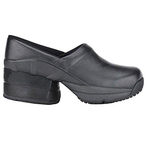 Toffler Coil Women's Sandal Resistant CoiL Enclosed Z Footwear Black Relief Clog Black Leather Pain Slip xX0nIz