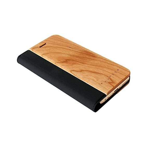 + LUMBER by Hacoa PL057 Wooden iPhone Case for iPhone 8/7 with Flip Cover (Walnut) 1 Hard case made with natural wood and corner bumper to protect your smartphone. Made to fit your iPhone 7 (4.7inch) offering a full access to all buttons. Flip cover with premium wood normally used in fine cabinetwork has a card slot.