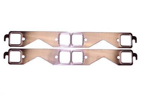 SCE Gaskets 4211 Pro Copper Header Gaskets for Chevrolet 283-400ci Small Block with stock manifolds or square port header openings Copper Header Gasket