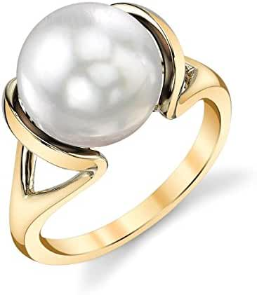 14K Gold White South Sea Cultured Pearl Hanna Ring