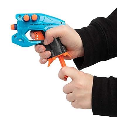 Grin Studios (2 Pack Foam Dart Gun Party Favors for Kids Foam Dart Blaster Shooter Toy Gun: Toys & Games