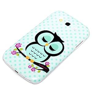 deinPhone Hardcase Owl - Carcasa para Samsung Galaxy Grand Duos i9082, azul