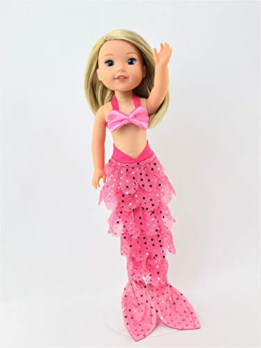 American Fashion World Hot Pink Mermaid Halloween Costume | Fits 14