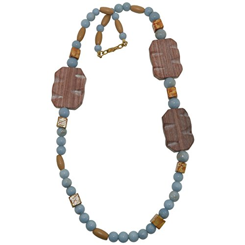 - SatinCrystals Angelite Necklace 25