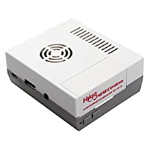 Hikig NESPi Case, NES Case for Raspberry Pi 3, 2 and B+ updated with beautiful air ventilation design, Including screws and screwdriver tool, Easy access to Raspberry Pi outlets design