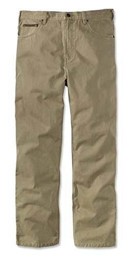 Orvis Men's Britain Cloth Five-Pocket Twill Jeans, 42, Inseam: 32 Inch British Khaki