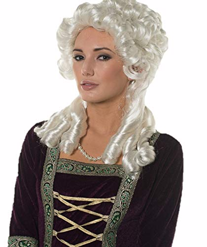 Halloween Cosplay Queen Marie Antoinette Silver White Fantasy Party Wig H0156
