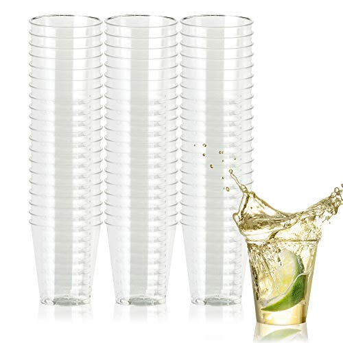 500 Disposable Hard Plastic Shot Glasses, 1oz(30ml) - Crystal Clear, Heavy Duty, Shatterproof & Reusable Shot Cups - for Shots, Vodka Jelly, Weddings, Dinners, Christmas, New Year - 100% -