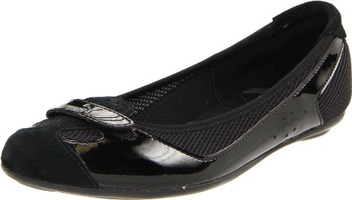 Puma Women's Zandy Casual Shoe,Black Patent,6 B (Athletic Ballet Flats)