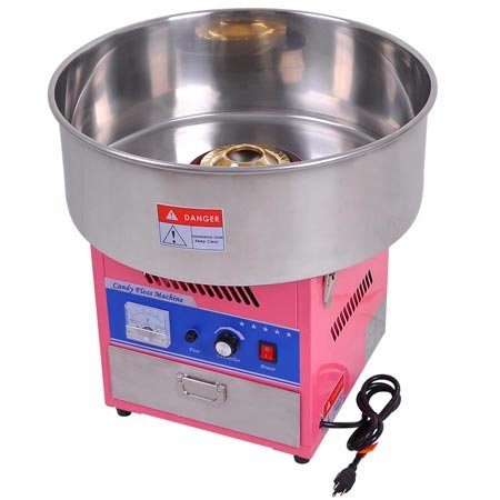20'' Commercial Quality Carnival Style Cotton Candy Machine Maker Pink by KOVAL INC.