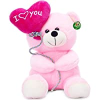 Deals India I Love You Balloon Heart Teddy, Pink