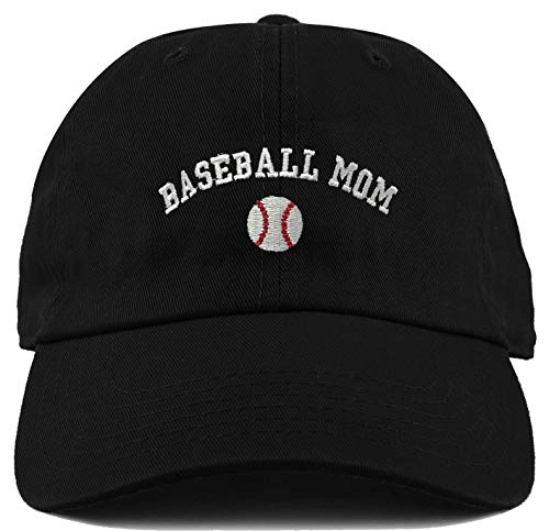 - H-214-BBMOM06 Dad Hat Unconstructed Low Profile Baseball Cap - Baseball Mom
