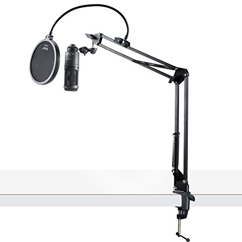 - Audio-Technica AT2020USB+ Condenser USB Microphone w/Knox Pop Filter & Boom Arm