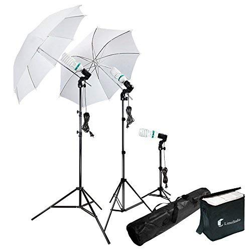 Photography Photo Portrait Studio 600W Day Light Umbrella Continuous Lighting Kit by...
