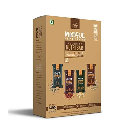 EAT Anytime Mindful Millet Energy Bars - Variety Box (Ragi, Bajra, Quinoa and Jowar) - 25 g x 12 Bars