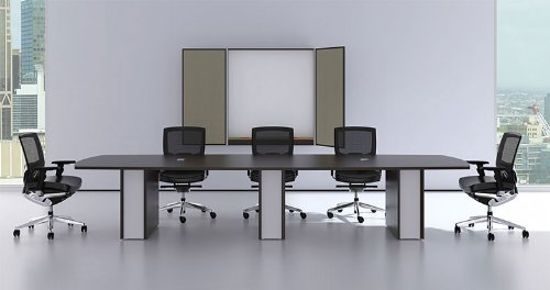 Modern Cotemporary Boat Shape 12' Feet Conference Table, #CH-VER-C4