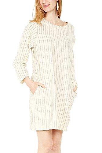 Prairie Underground New Deal Dress in Natural Stripe S