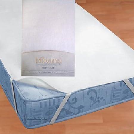 Biberna 809600-001-142 Coprimaterasso Impermeabile a mollettoni con SilverCare 90x200 cm Colore Bianco