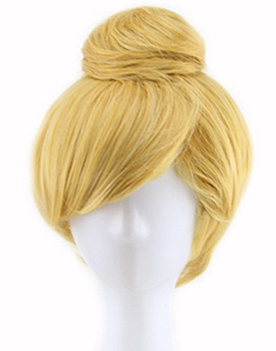 OYSRONG Women's Short Blonde Princess Cosplay Costume Wig]()