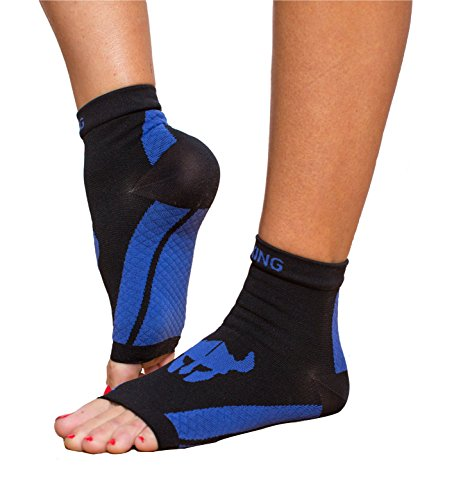 - Viking Guards Foot Sleeve Plantar Fasciitis Compression Sock with Optional Heel Cups for Heel Pain - For Men and Women - 1 Pair (Medium)