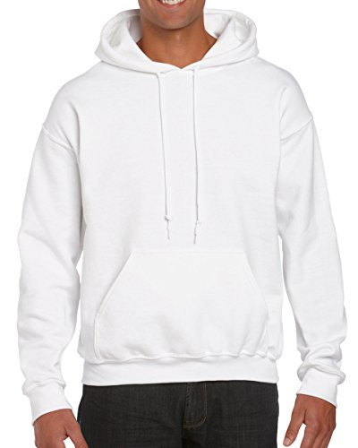 Gildan 18500 - Classic Fit Adult Hooded Sweatshirt Heavy Blend - First Quality - White - X-Large ()